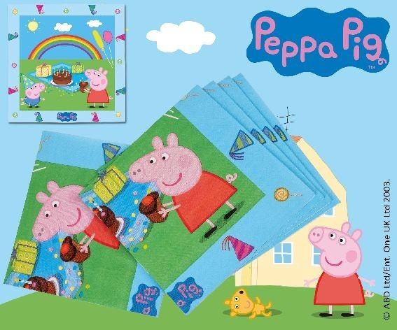 Servietten Peppa Pig, ca. 33x33 cm, 20 St.
