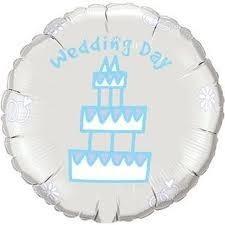 Ballongruß: Wedding Day Torte, ca. 45 cm