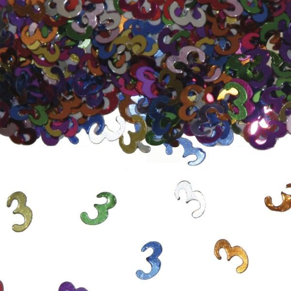 Folien-Konfetti 3, bunt, ca. 14 gr.