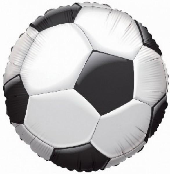 Mini Folienballon Fußball, luftgefüllt mit Stab, ca. 20 cm