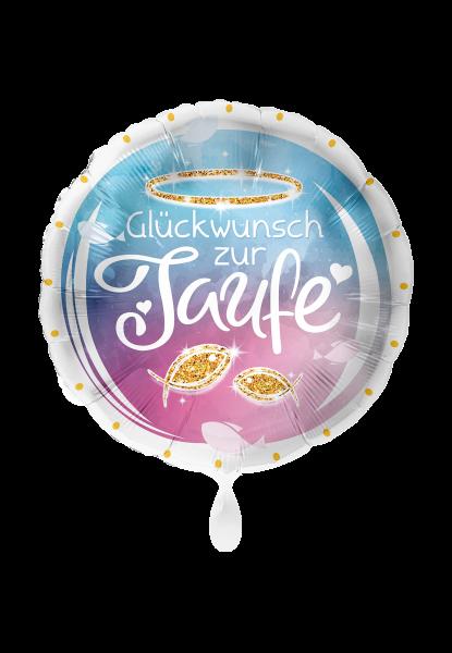 Folienballon Glückwunsch zur Taufe, Fische, ca. 45 cm