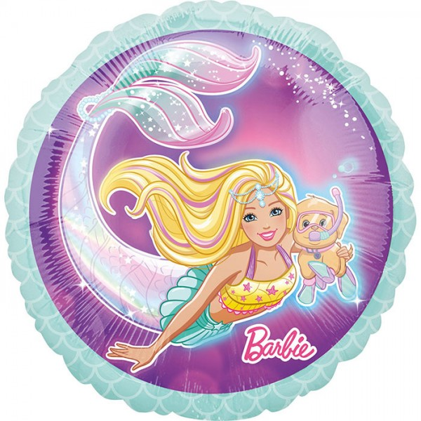 Ballongruß: Barbie Meerjungfrau, ca. 45 cm