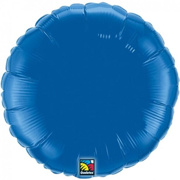 Ballongruß: Rund, blau, ca. 45 cm