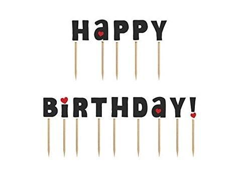 Picker Happy Birthday, ca. 7 cm, 14 St.