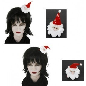 Haarclip Haarspange Weihnachtsmann, ca. 8 cm, sortiert