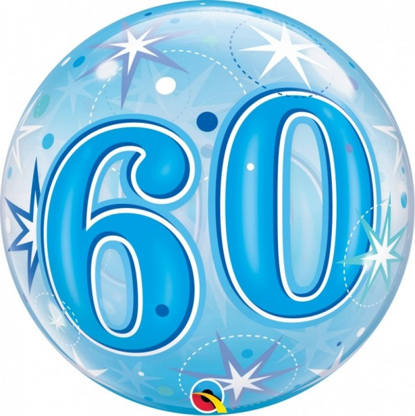 Bubble 60 BLAU Qualatex, ca. 56 cm