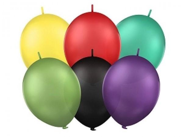 50 Kettenballons, sortiert, ca. 30 cm Durchmesser