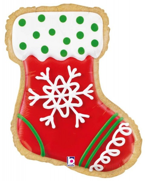 Ballongruß: Lebkuchen Weihnachtsstiefel, ca. 65 cm