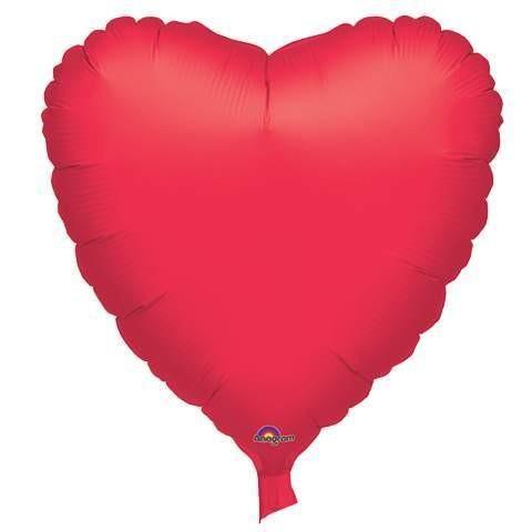 Folienherz, rot, 45 cm, 10 Stück