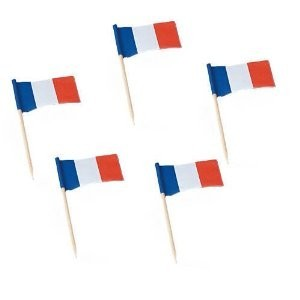 Flaggenpicker Frankreich, 200 Stück