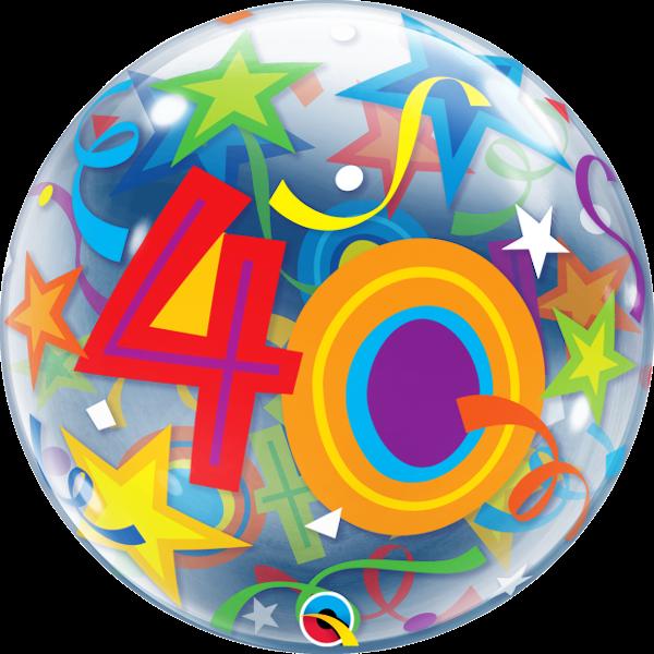 Bubble 40 bunt, Qualatex, ca. 56 cm