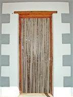 Türvorhang silber, ca. 0,9 x 2,5 Meter