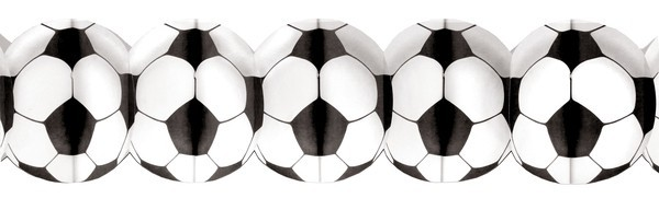 Girlande Fußball Papier, ca. 3,25 Meter
