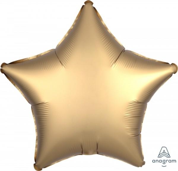 Folienstern SATIN gold, ca. 45 cm