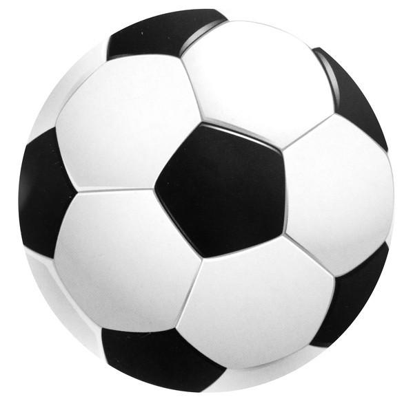Untersetzer Fußball, ca. 9 cm, 10 St.