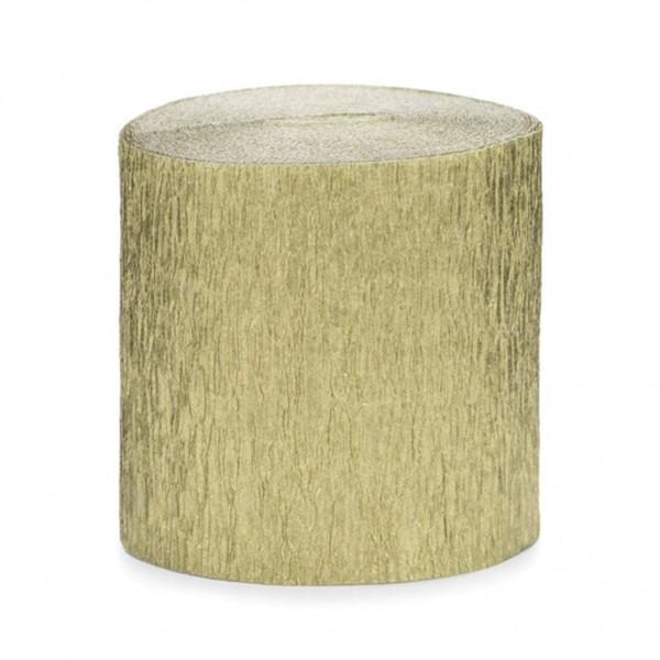 Krepp-Papier gold, ca. 5 cm x 10 Meter, 4 Rollen