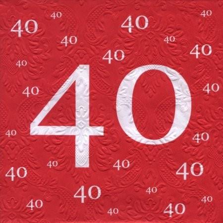 Servietten 40, rot, 20 St.