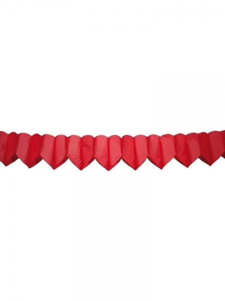 Herzgirlande rot, schwer entflammbar, ca. 6 Meter