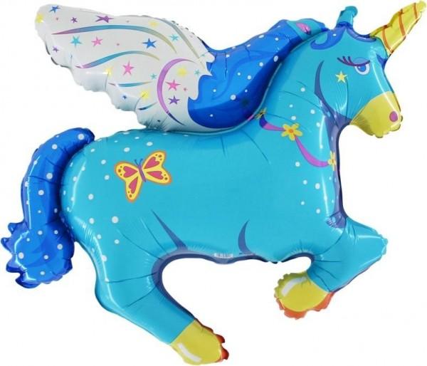 Folienshape Pegasus blau, ca. 85 cm