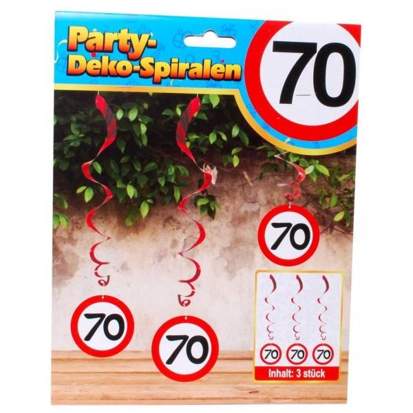 Swirl Deko 70 Verkerhsschild, ca. 60 cm, 3 St.