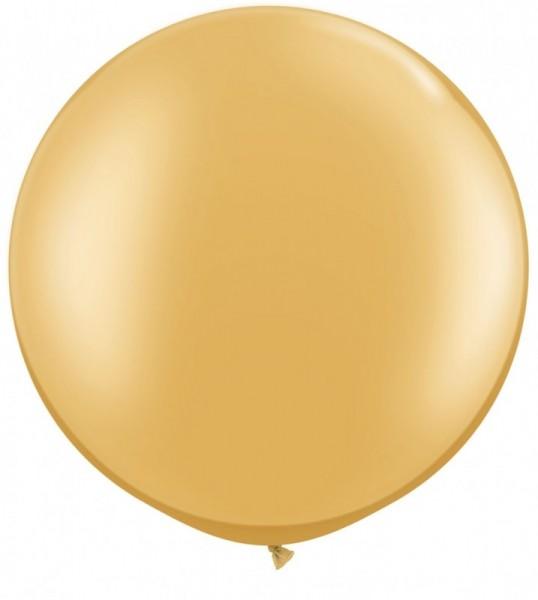 Riesenballon Qualatex, ca. 90 cm, gold