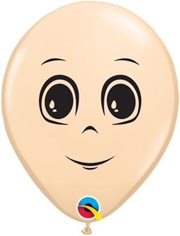 1 Ballon Gesicht Mann, Qualatex, ca. 40 cm