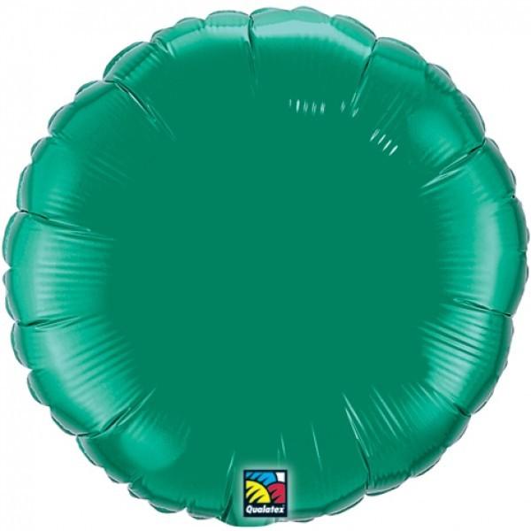 Ballongruß: Rund, grün, ca. 45 cm