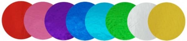 Konfetti Punkte bunt Metallic-Folie, ca. 2 cm
