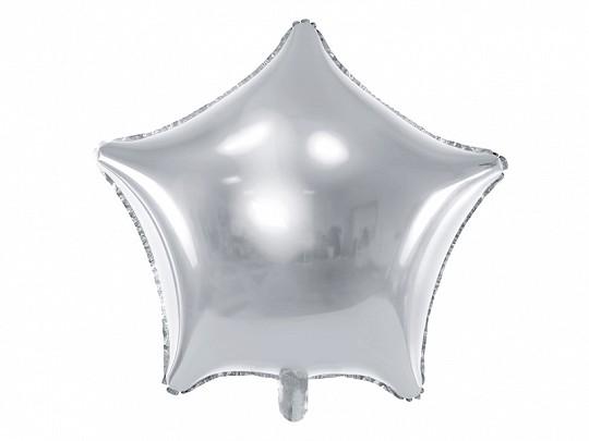 Ballongruß: Stern ca. 80 cm, silber