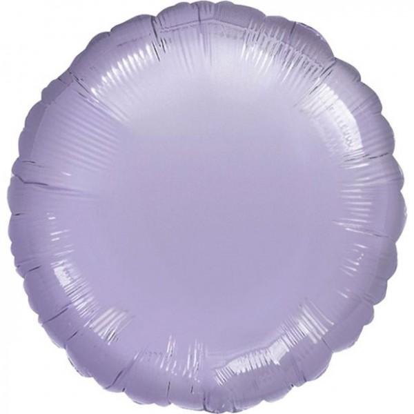 Folienballon rund flieder, ca. 45 cm