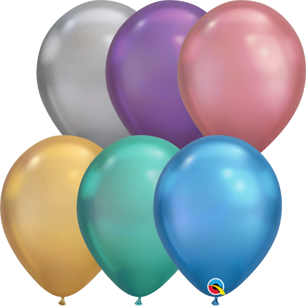"10 Ballons Qualatex, 11"", Chrome sortiert"
