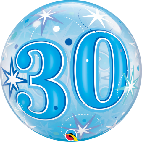 Bubble 30 BLAU Qualatex, ca. 56 cm