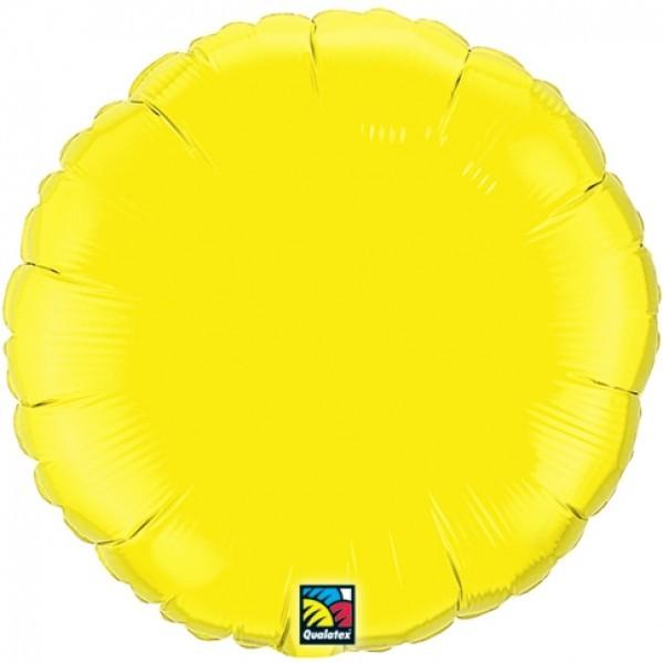 Ballongruß: Rund, gelb, ca. 45 cm