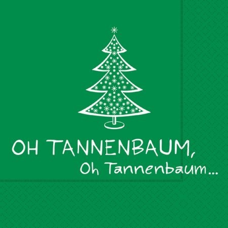 Servietten Oh Tannenbaum, ca. 33x33 cm, 20 Stück