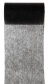 Tischband Vlies schwarz, 10 cm x 10 Meter Rolle