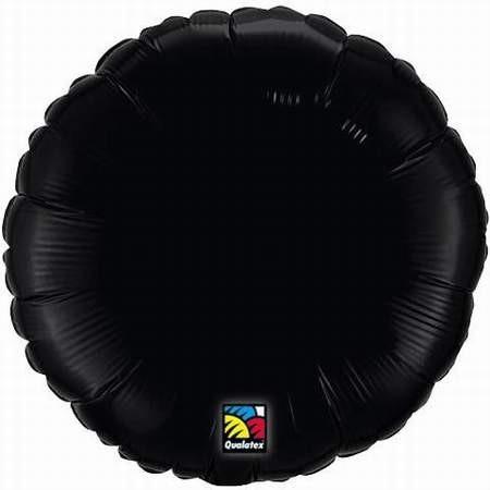 Folienballon, rund, schwarz, 45 cm