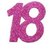 Streudeko 18 Glitter pink, ca. 6x5 cm, 6 St.