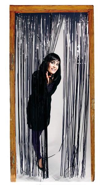 Türvorhang schwarz, ca. 1 x 2 Meter