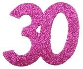 Streudeko 30 Glitter pink, ca. 6x5 cm, 6 St.