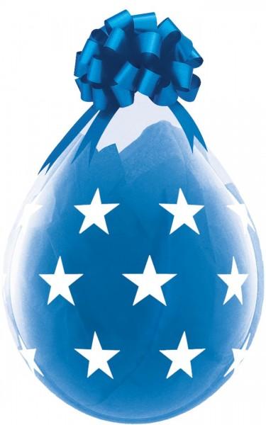 Sterne Verpackungsballon, transparent, Qualatex, ca. 45 cm