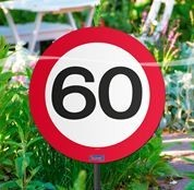 Schild mit Stecker 60 Verkehrsschild, ca. 53 cm