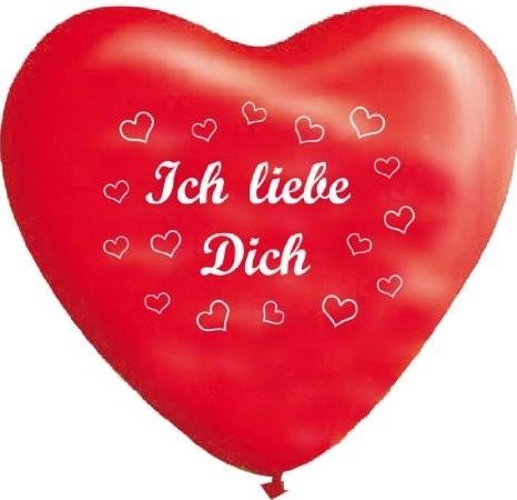 """10 rote Herzballons """" Ich liebe Dich"""""""