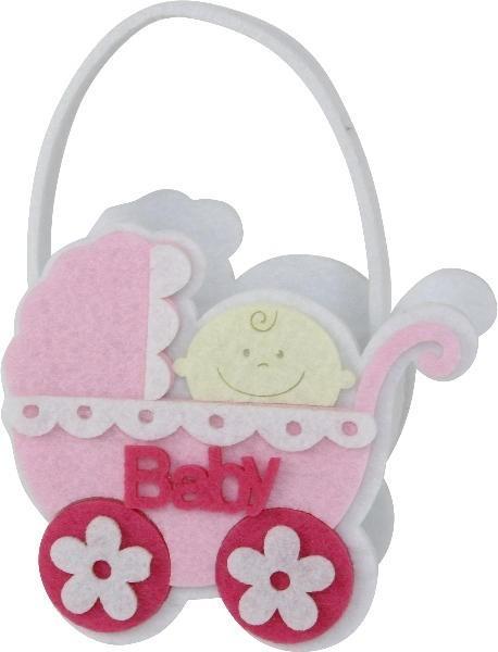 Tasche Kinderwagen Baby rosa/pink, ca. 10,5x5x10 cm