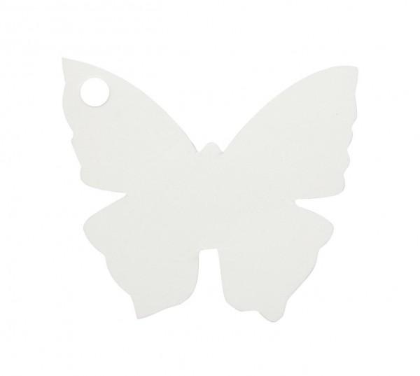 Kärtchen Schmetterling weiß, ca. 3,5x4 cm, 10 St.