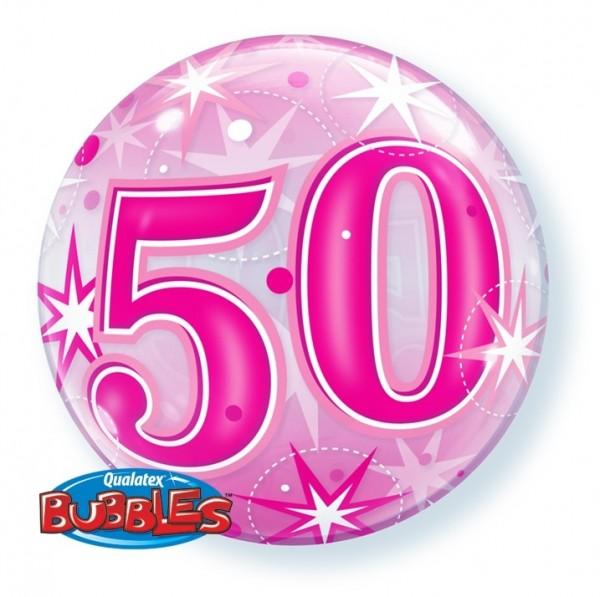 Bubble 50 Qualatex PINK, ca. 56 cm