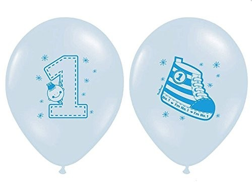 Zahlenballons 1 & Turnschuh, hellblau, ca. 30 cm, 6 St.