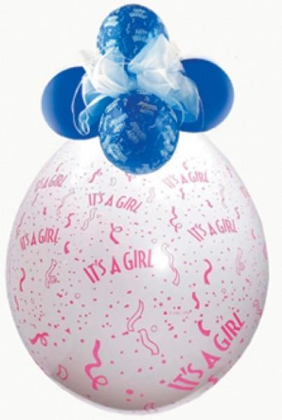 It`s a girl Verpackungsballon, transparent, Qualatex, ca. 45 cm