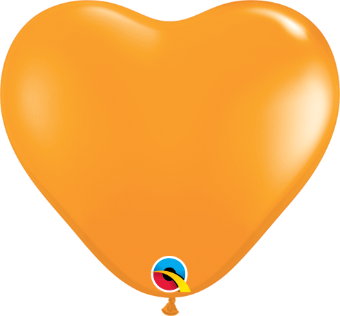 100 Mini-Herzballons, orange, Qualatex