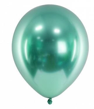 grün Chrome Glossy Ballons Mini, 50 St.