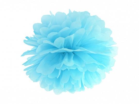 Pompom hellblau, 25 cm, 1 St.